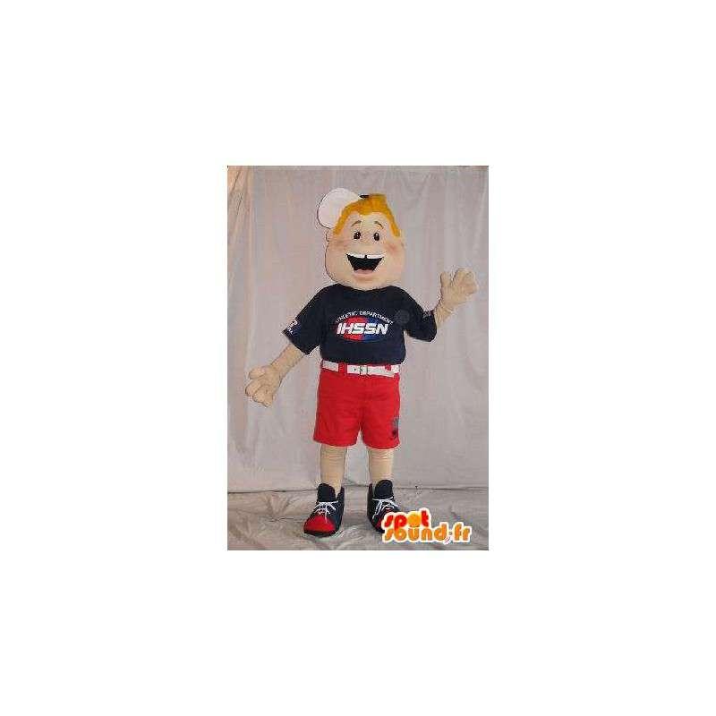 Mascotte garçon américain en culottes courtes - MASFR001578 - Mascottes Garçons et Filles