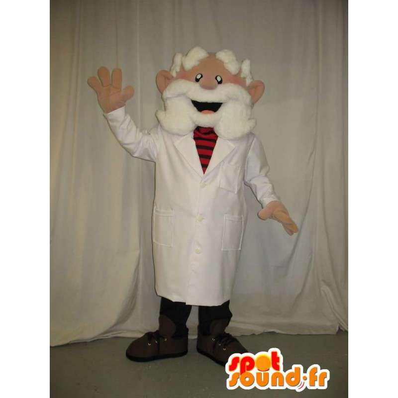 Maskotka stary lekarz ubrany w białą brodę - MASFR001584 - Mężczyzna Maskotki