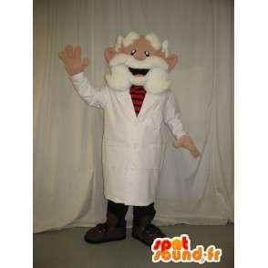 Mascot vecchio medico che indossa una barba bianca - MASFR001584 - Umani mascotte