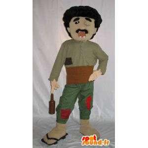 Costume av en blind person, alkoholiker med ødelagte tenner - MASFR001586 - Man Maskoter