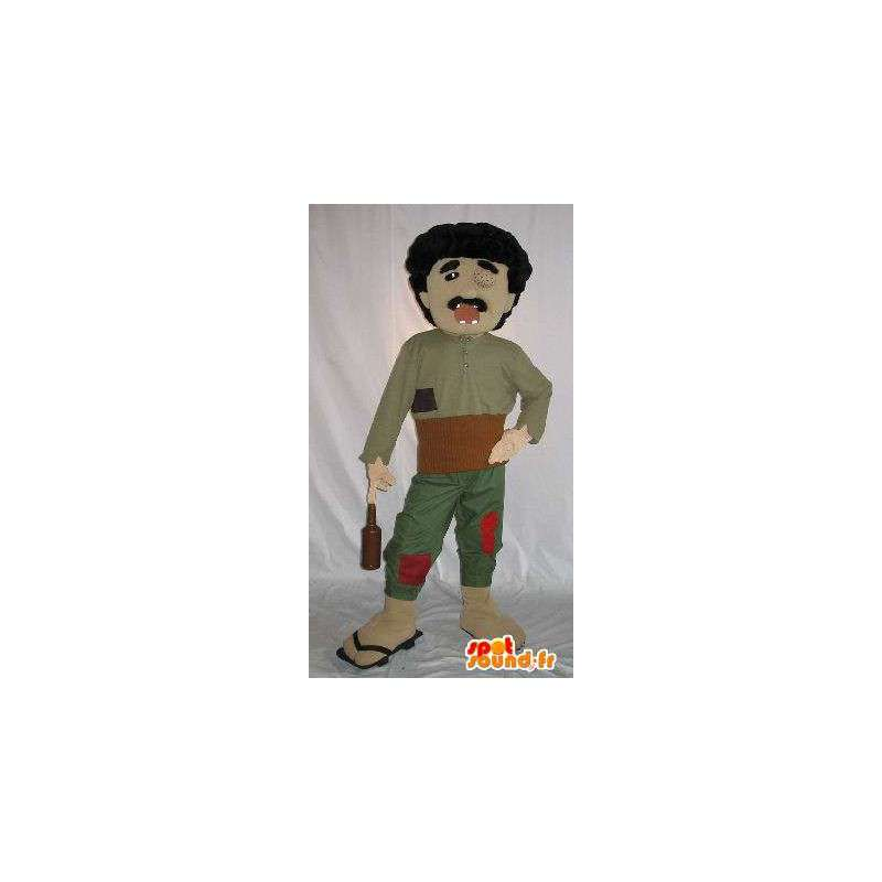 Costume of a character blind, alcoholic with broken teeth - MASFR001586 - Human mascots