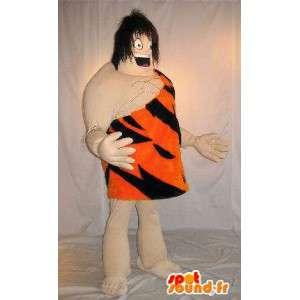Mascot van Tarzan, de koning van de jungle, gekleed in tiger