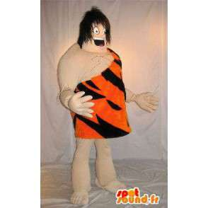 Mascotte de Tarzan, roi de la jungle en tenue de tigre - MASFR001587 - Mascottes Tigre