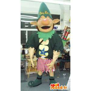 Mascot un gigante duende Big Ben, traje extravagante