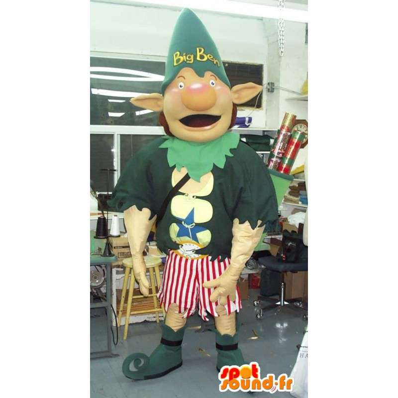 Mascot av en gigantisk elf Ben ekstravagant forkledning - MASFR001588 - utdødde dyr Maskoter