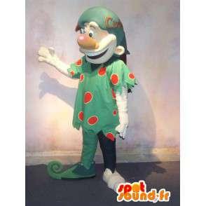 Mascotte de troll déguisé en elfe vert à poids rouges - MASFR001589 - Mascottes animaux disparus