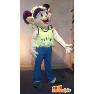 Mascot elf Stadt für junge trendy