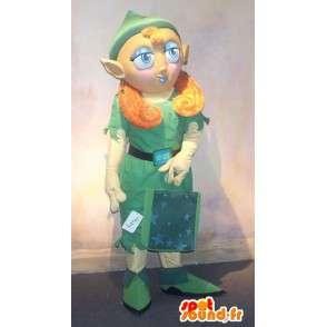 Mascotte d'elfe avec accessoires de shopping - MASFR001591 - Mascottes animaux disparus