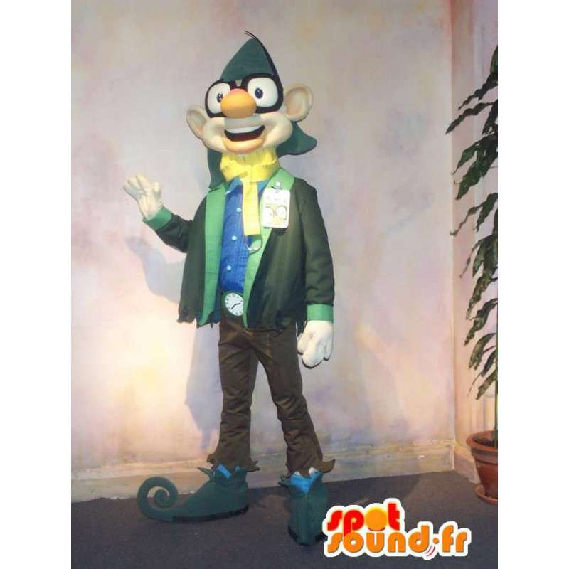 Mascot citta elf a guardare yuppie - MASFR001593 - Mascotte animale mancante