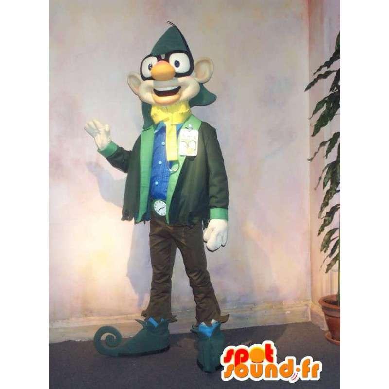 Mascot stad elf naar yuppie kijken - MASFR001593 - uitgestorven dieren Mascottes