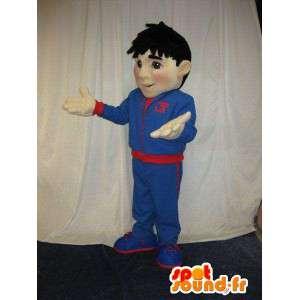 Mascot allenatore, costume trainer in una tuta da ginnastica