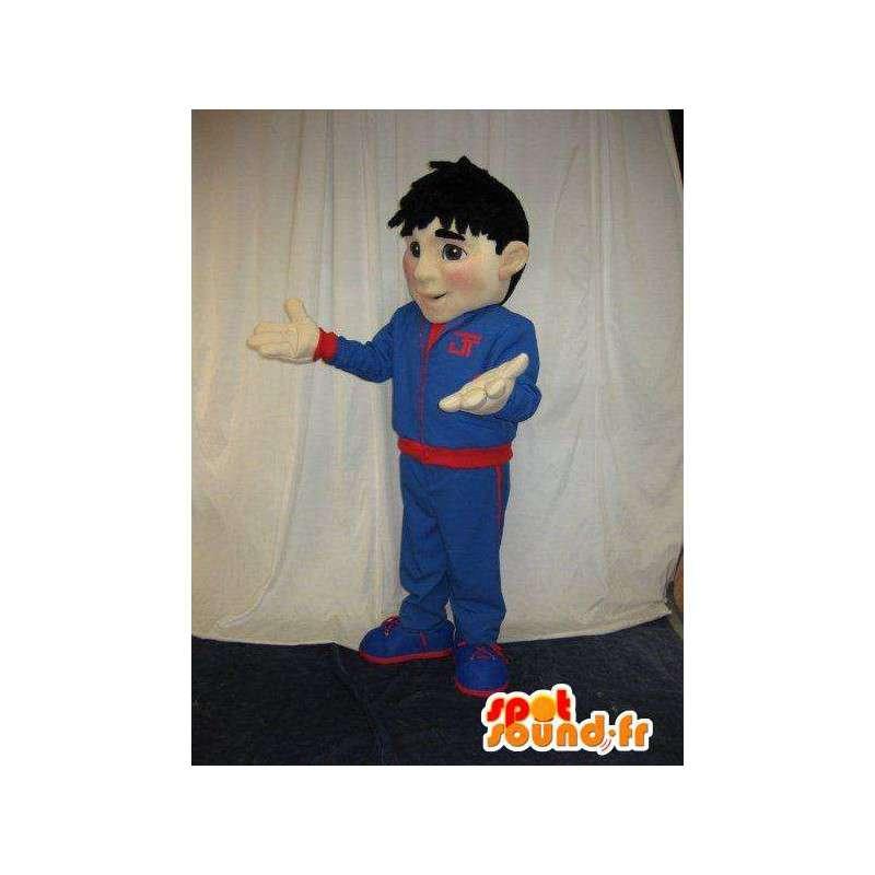 Mascot allenatore, costume trainer in una tuta da ginnastica - MASFR001599 - Mascotte sport