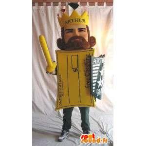 Maskot King Arthur ve tvaru pohlednice