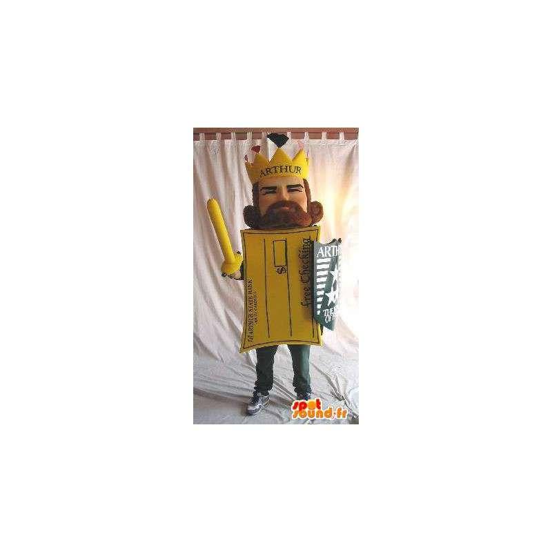 Mascotte du Roi Arthur en forme de carte postale - MASFR001601 - Mascottes non-classées