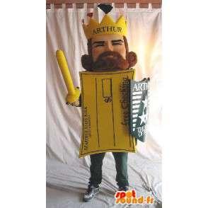 Mascot Rey Arturo como una postal - MASFR001601 - Mascotas sin clasificar