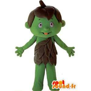 Carácter de la mascota de niño gigante verde