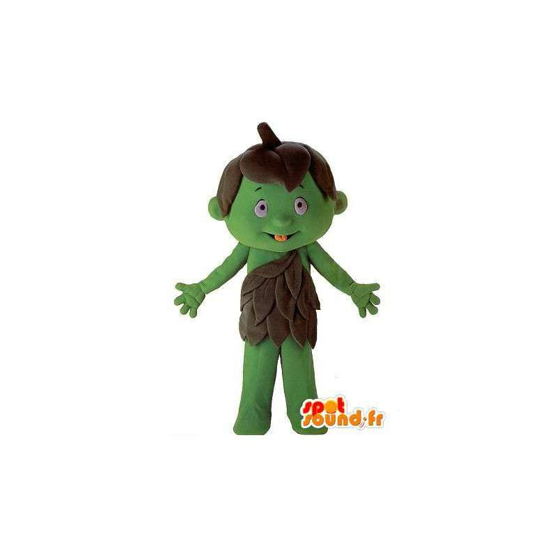 Carácter de la mascota de niño gigante verde - MASFR001602 - Niño de mascotas