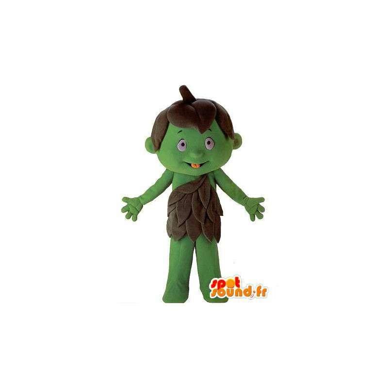 Mascotte del bambino verde personaggio gigante - MASFR001602 - Bambino mascotte