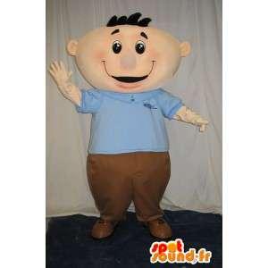 Mascote de um boneco de neve amigável e jovial BCBG vestido - MASFR001604 - Mascotes homem