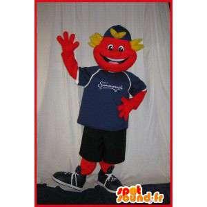 Mascot sorrindo adolescente com desportivo - MASFR001608 - mascote esportes