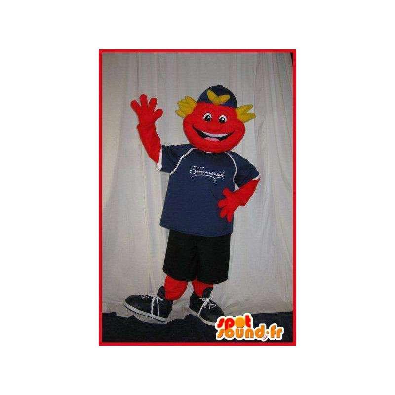 Maskotti hymyilevä teini kanssa urheilullinen - MASFR001608 - urheilu maskotti