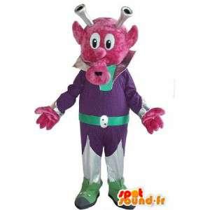 Mascot espacio criatura, moda significativo a nivel local