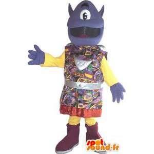 Mascot guardo alieno in costume tradizionale