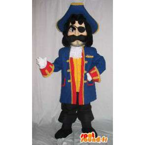 Female Pirate mascot, blue suit and accessories - MASFR001614 - Human mascots