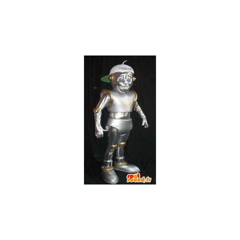 I-robot maskot, skinnende robot drakt - MASFR001616 - Maskoter Robots
