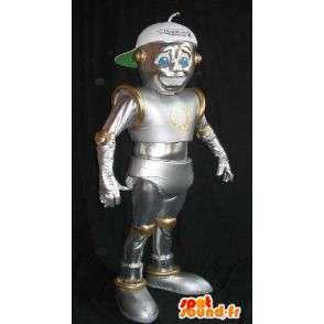 I-robot costume della mascotte, robot lucido - MASFR001616 - Mascotte dei robot
