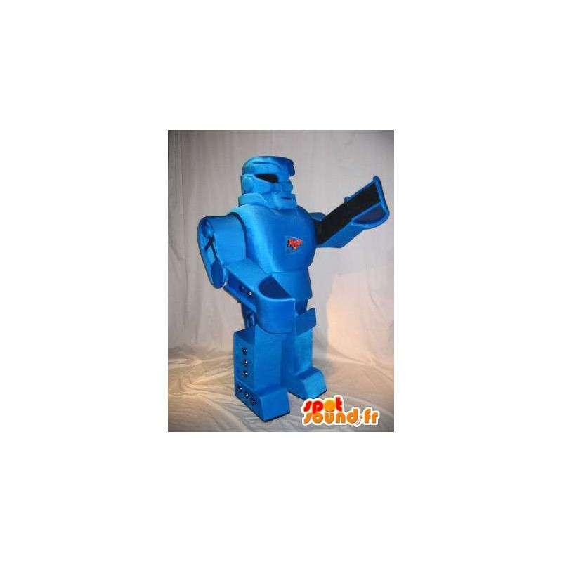Transforming robot mascot, blue metal - MASFR001617 - Mascots of Robots