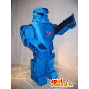 Mascotte de robot transformer, bleu métal - MASFR001617 - Mascottes de Robots