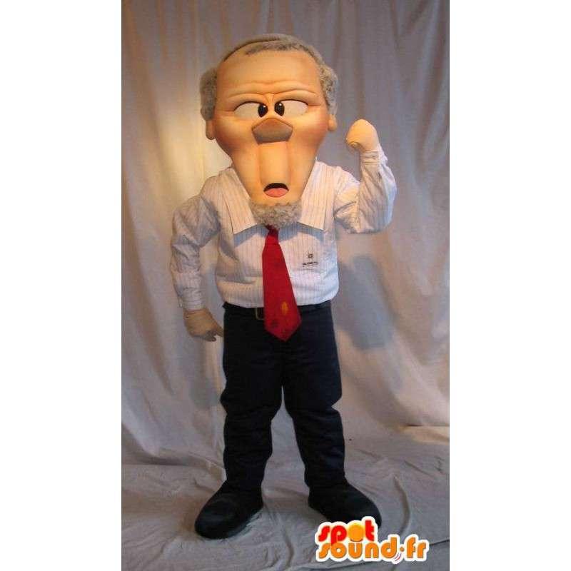 Mascotte de chef d'entreprise, le big boss - MASFR001620 - Mascottes Homme