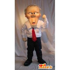 Mascot imprenditore, il grande capo - MASFR001620 - Umani mascotte
