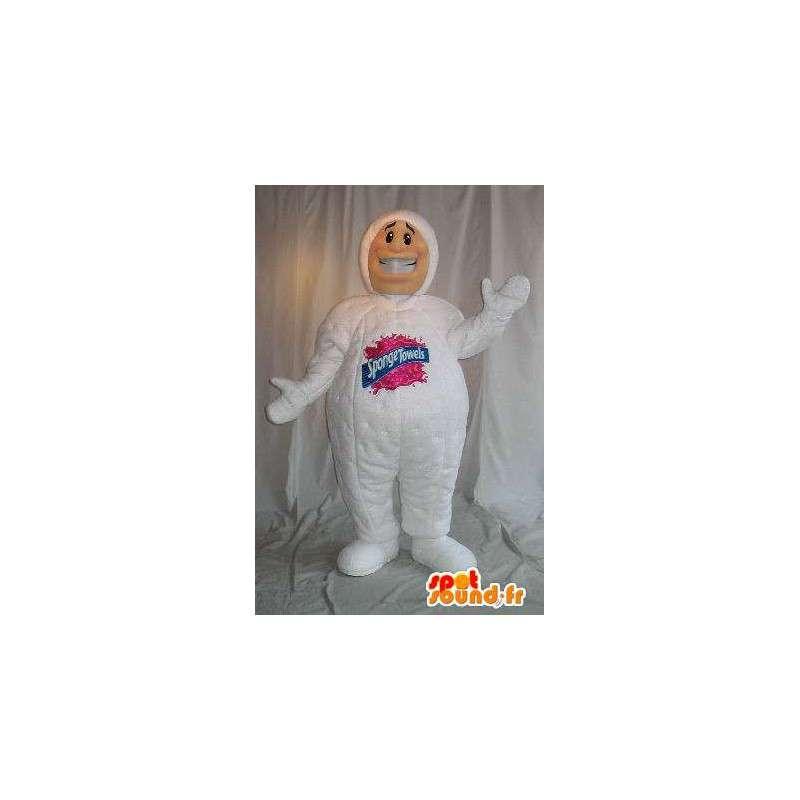 L uomo spugna mascotte, asciugamani scroccone - MASFR001621 - Umani mascotte