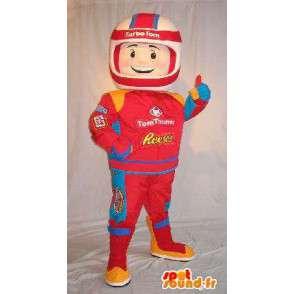 Mascot piloto de Fórmula 1, la combinación de rojo - MASFR001627 - Mascota de deportes