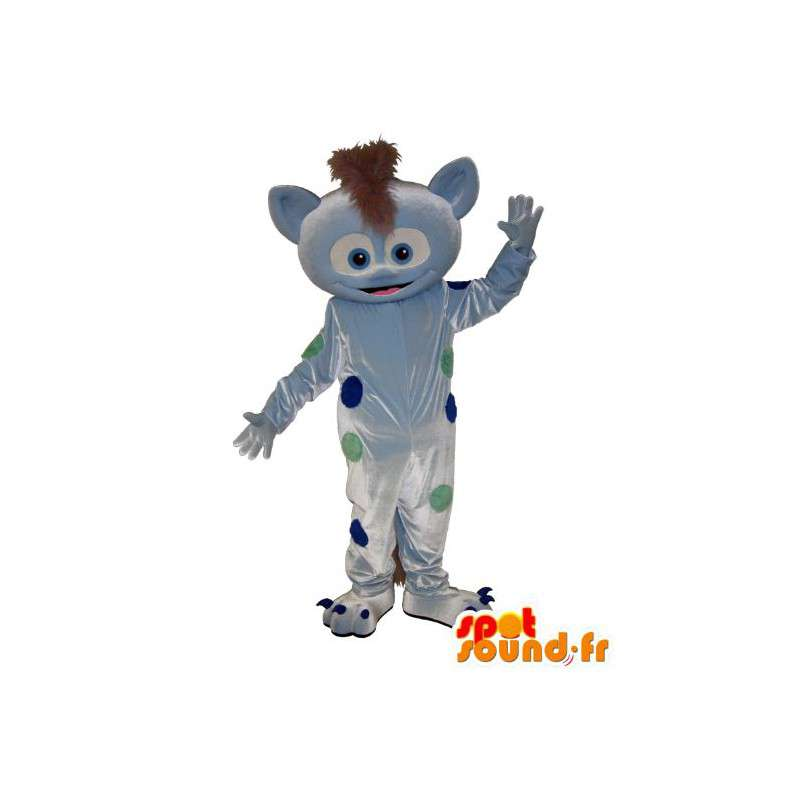 Mascotte de lynx, déguisement gris imprégné de poids colorés - MASFR001569 - Mascottes Tigre