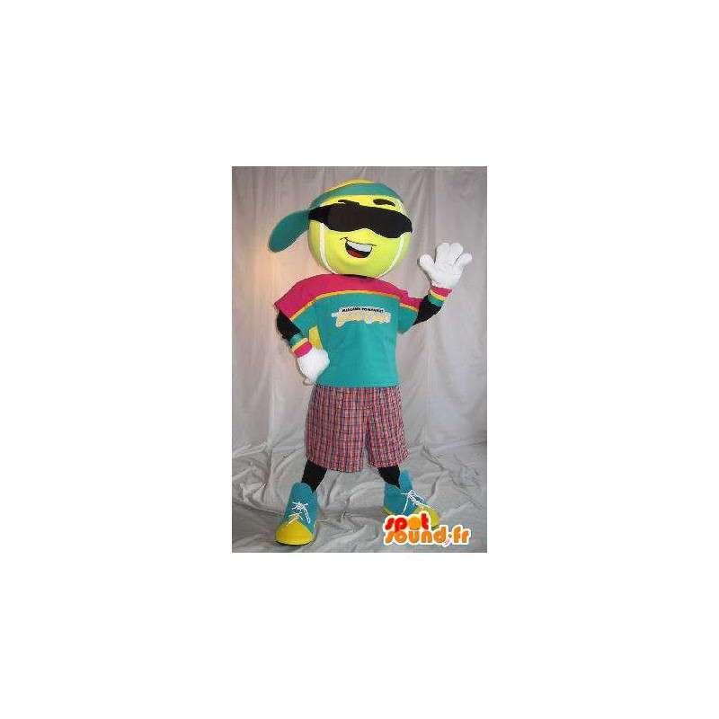 Mascotte de personnage de balle de tennis, déguisement sport - MASFR001628 - Mascotte sportives