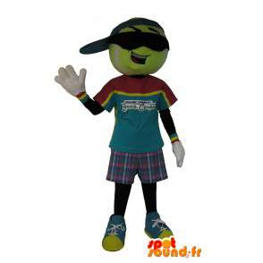 Mascot character tennis ball, sports disguise - MASFR001628 - Sports mascot