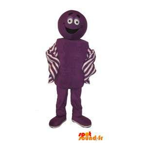 Joviale paars, kleurrijk kostuum mascotte - MASFR001629 - Niet-ingedeelde Mascottes