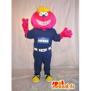 Smiling face mascot costume in combination