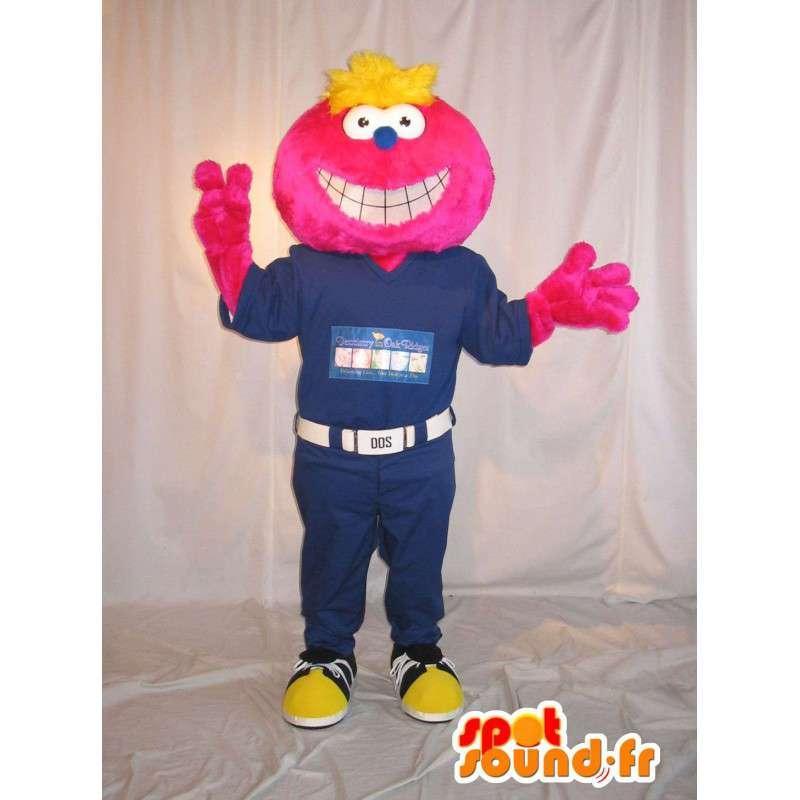 Smilende ansikt maskot, forkledning i kombinasjon - MASFR001630 - Ikke-klassifiserte Mascots