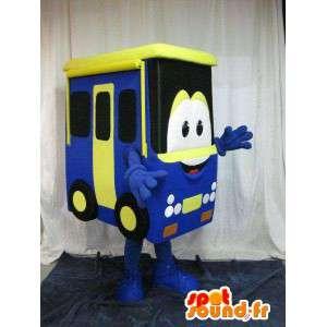 Maskot som representerar en buss, förklädnad i form av ett