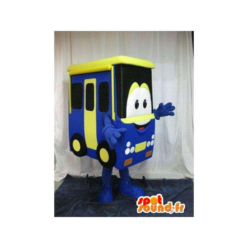 Mascotte représentant un bus, déguisement en forme de véhicule - MASFR001632 - Mascottes d'objets