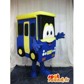 Mascot representerer en buss, kjøretøy form forkledning - MASFR001632 - Maskoter gjenstander