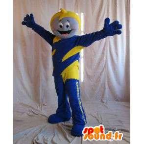 Heroes mascotte voor kinderen, geel en blauw kostuum - MASFR001639 - mascottes Child