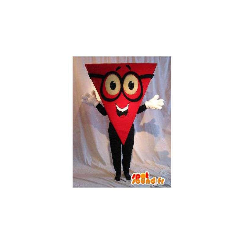 Maskottchen Charakter Kopf Dreieck geometrische Anzug - MASFR001640 - Maskottchen nicht klassifizierte