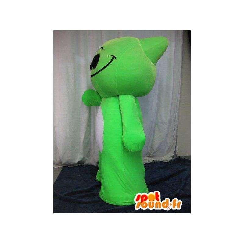Kleine grüne Monster Maskottchen Manga-Helden-Kostüm - MASFR001641 - Monster-Maskottchen