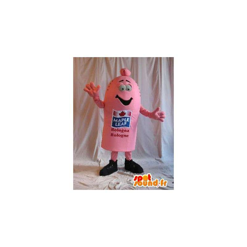 Mascot gevormde worst, gastronomie verhullen - MASFR001643 - Fast Food Mascottes