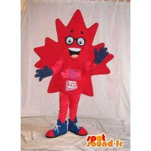 Mascot folha de bordo canadense disfarce